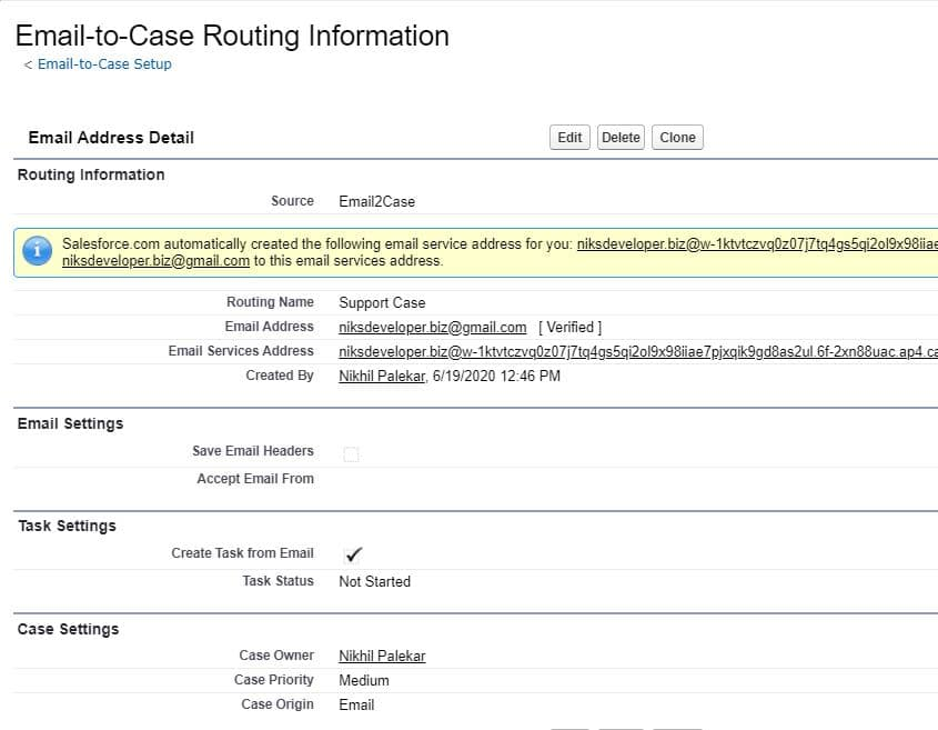 Email-to-Case Routing Information