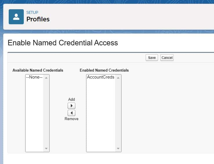 Enable Named Credentials