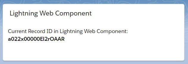 Get Current Record ID in LWC (Lightning Web Component)