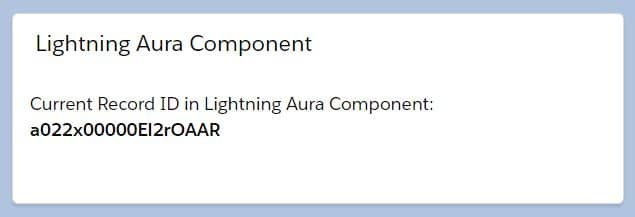 Get Current Record ID in Lightning Aura Component