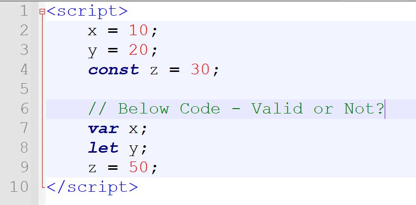 Difference between Var, Let, and Const in JavaScript