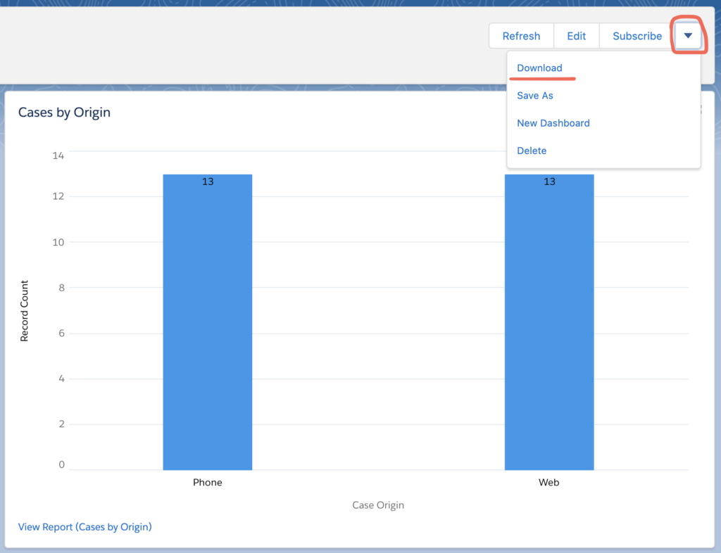 Download Dashboard as Image in Salesforce