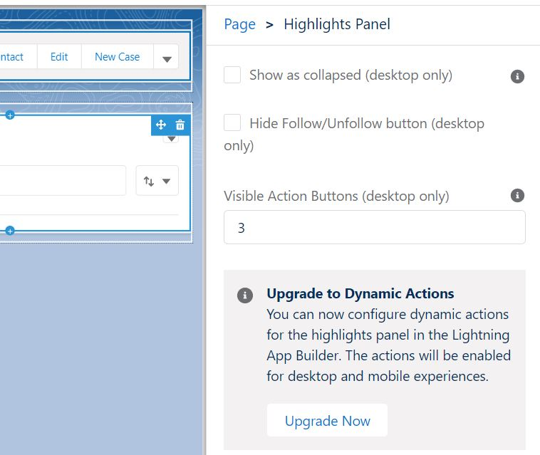 Upgrade to Dynamic Actions