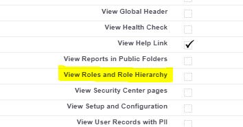 View Roles and Role Hierarchy in Profile